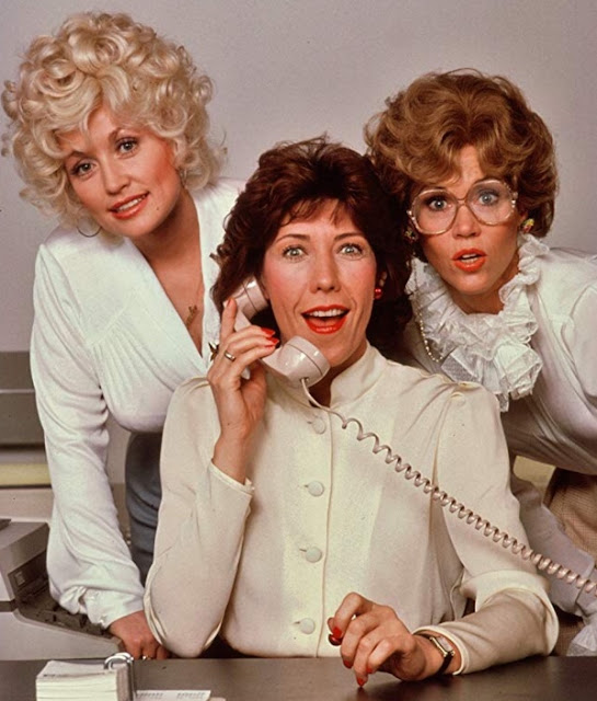 Dolly Parton, Lily Tomlin and Jane Fonda in 9 to 5 movie