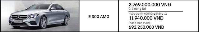 Giá xe Mercedes E300 AMG 2017 tại Mercedes Trường Chinh