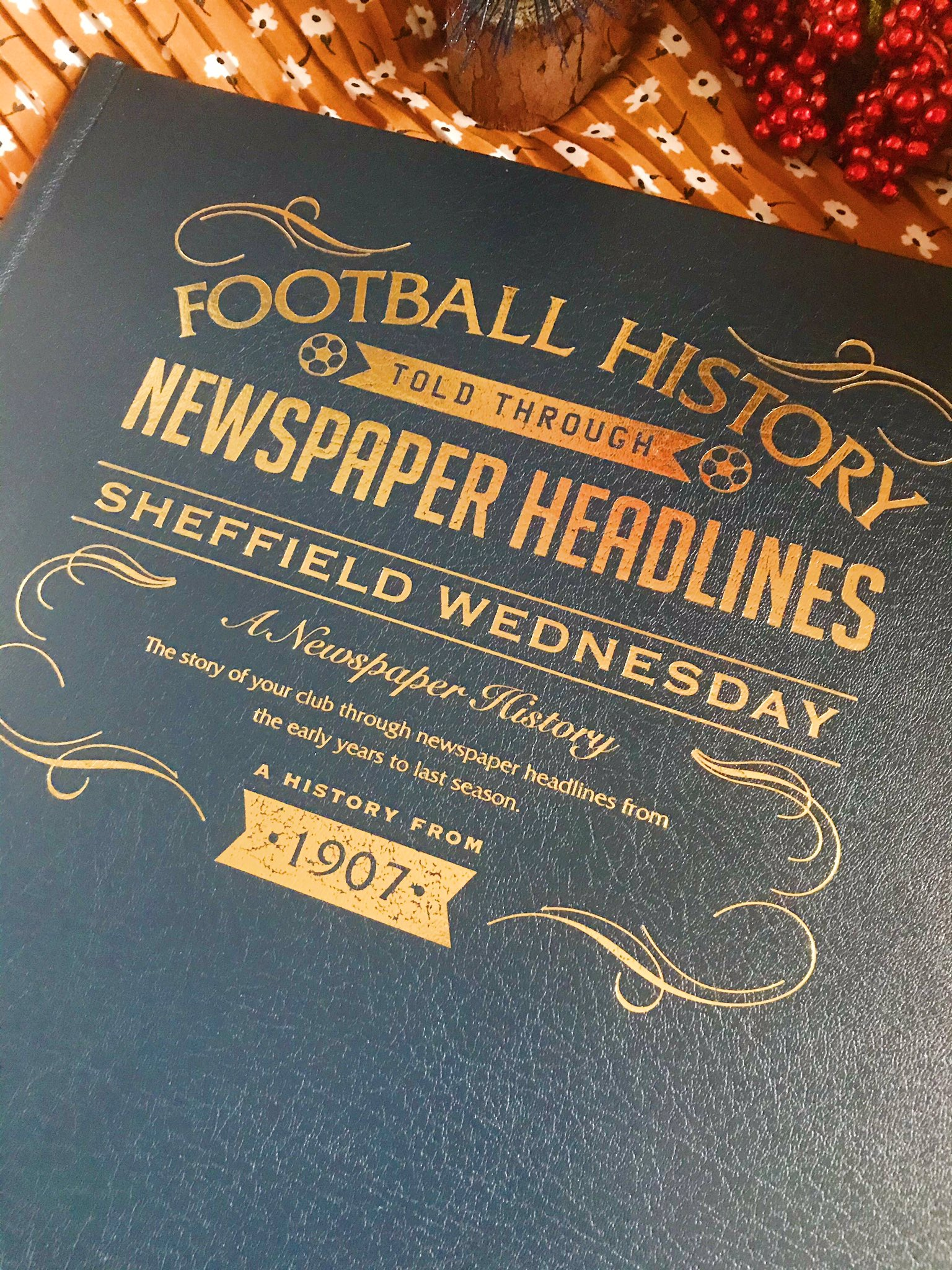 Historical Newspapers football history book front cover