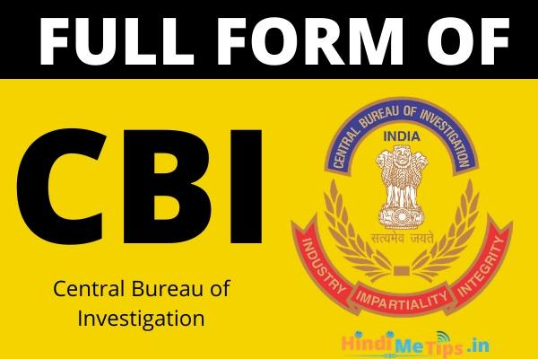Full Form of CBI