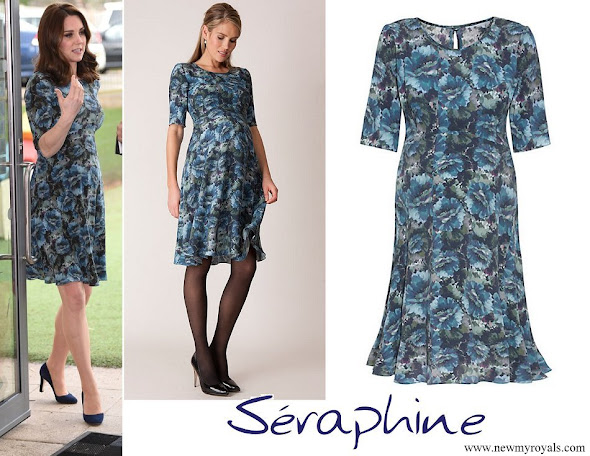 Kate Middleton wore Seraphine Florrie Floral Print Dress