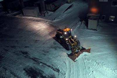 雪の北海道 フェリーから