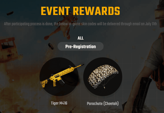 pubg lite event rewards