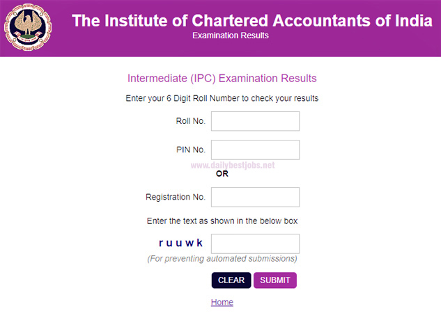 CA IPCC Result Nov 2018, Check Your Results at icaiexam.icai.org