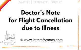 doctor letter for flight cancellation