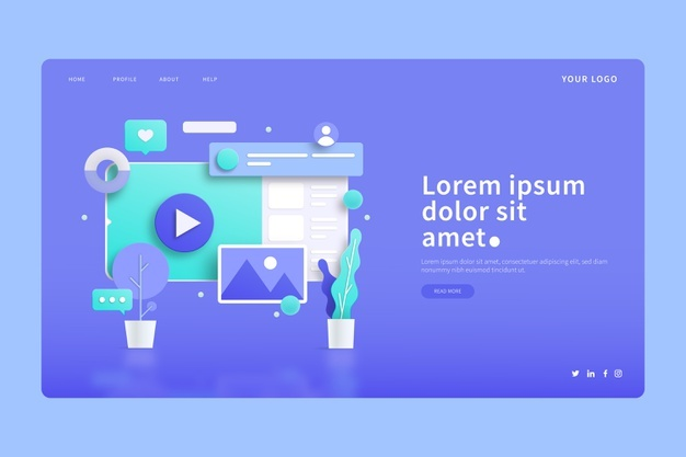 2020 Web Design and UI Trends using 3D