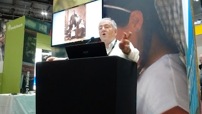 Speaker on the FamilySearch stand