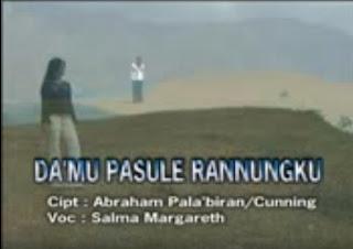 Lirik Lagu Da'mu Pasule Rannungku (Salma Margareth)