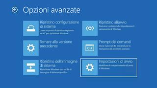 Modalità provvisoria Windows 10 - Impostazioni avvio