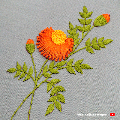Awesome Flower embroidery collection by Miss Anjiara Begum