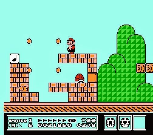 Pantalla Mundo 1 : Super Mario Bross 3