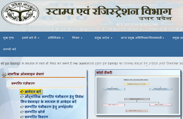 Uttar Pradesh Online Property Registration Website