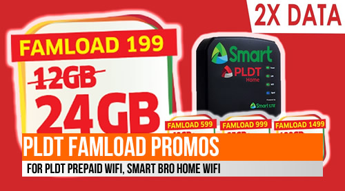 List of PLDT FamLoad Promos for PLDT Prepaid WiFi, Smart Bro Home Wifi