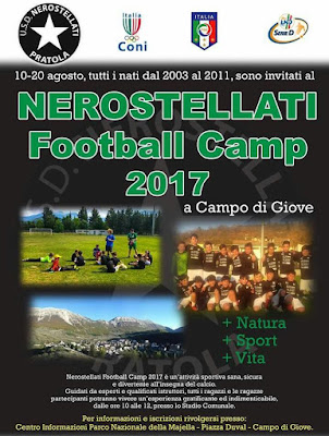 Football camp in collaborazione con l'USD Nerostellati 1910 di Pratola Peligna
