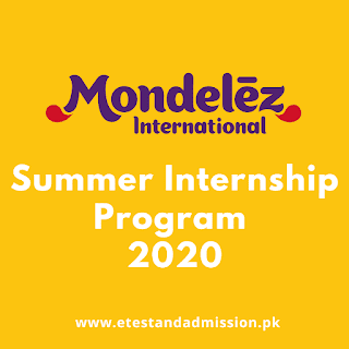 Mondelez Pakistan Summer Internship Program 2020