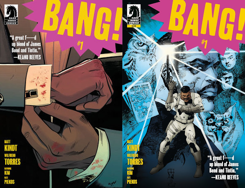 First and second printing cover of Dark Horse's Bang!