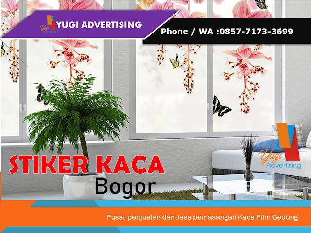 Distributor & Jasa Pemasangan Stiker kaca Bogor