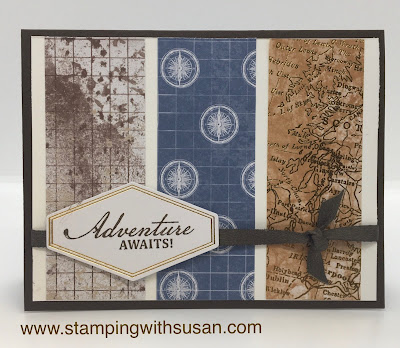 Stampin' Up!, World of Good Suite, Old World Paper DSP, Faux Suede Trim, www.stampingwithsusan.com,