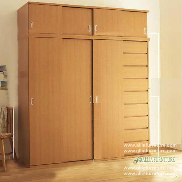 lemari minimalis 4 pintu unit model pure