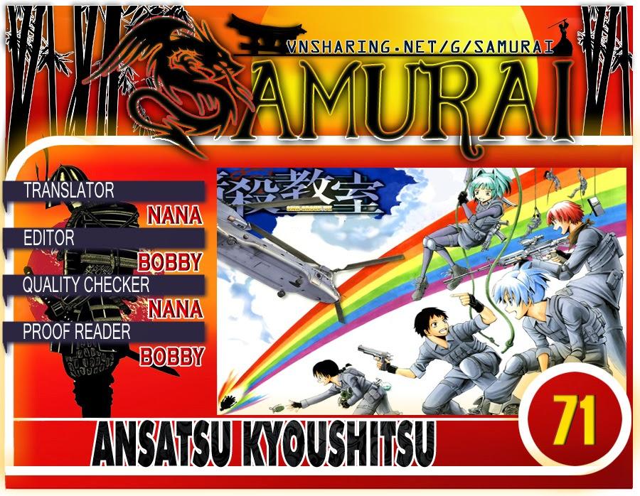 Ansatsu Kyoushitsu chap 71 trang 1