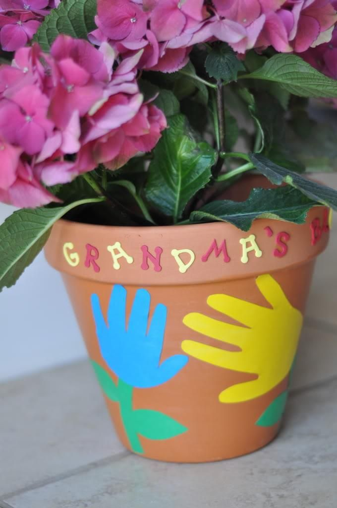 Painted Flowerpot Mother's Day Crafts