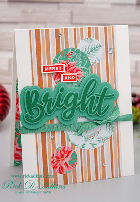 My 15 Days of Christmas promotion kicked off today with my Merry & Bright In Color Christmas Card!  Click here to learn more!