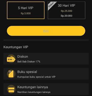 Cara menjadi VIP di Novelme