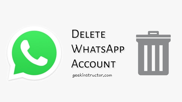 Delete WhatsApp account permanently