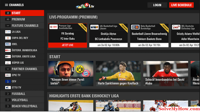 Free Sports Streaming Sites Laola1