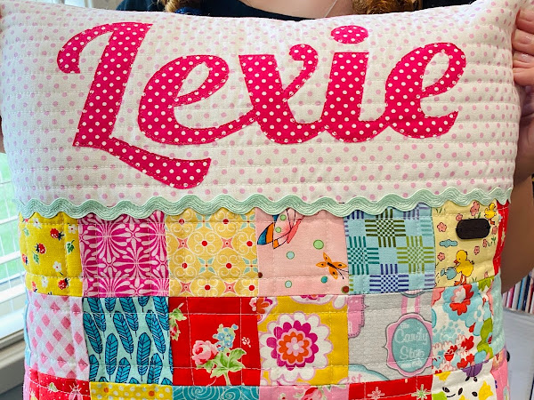 Sewing with my girl: a pillow for Lexie