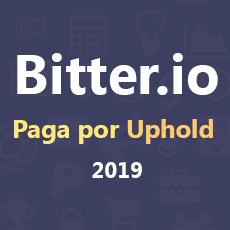 Bitter.io comprobante de pago por Uphold 2019