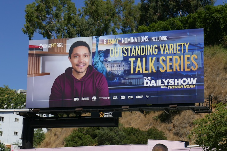 Daily Show Trevor Noah 2020 Emmy nominee billboard
