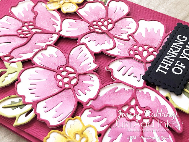 Jo's Stamping Spot - Just Add Ink Challenge #505 using Blossoms in Bloom bundle by Stampin' Up!