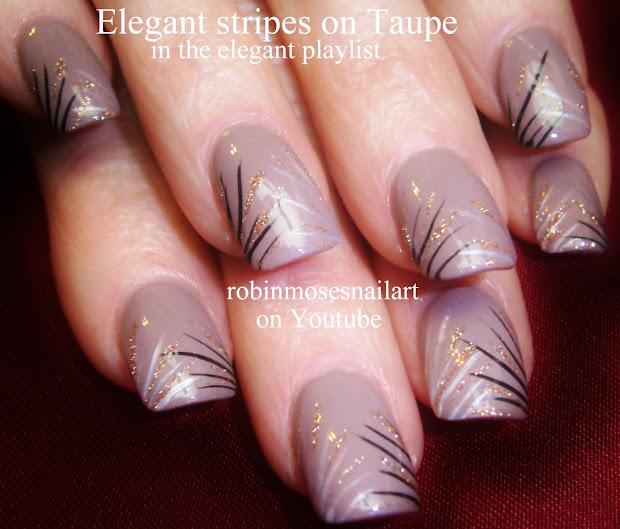 nail art robin moses striped