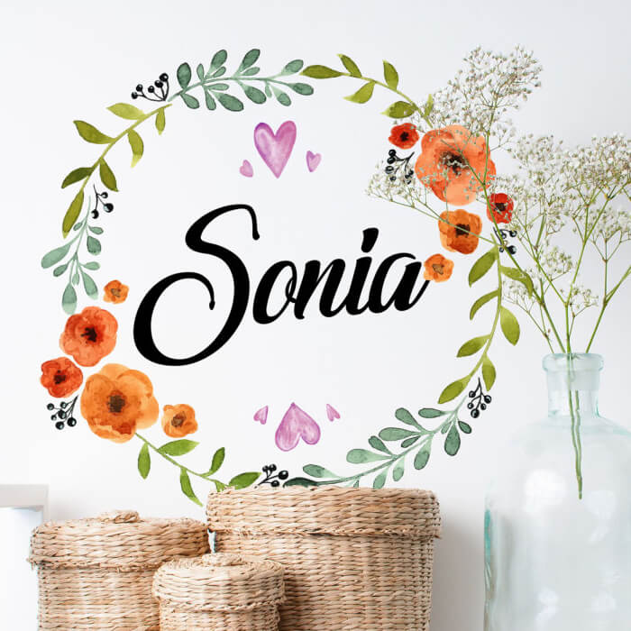 Customizable wall stickers