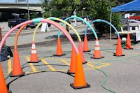 Pool Noodle Bike Course with Arches