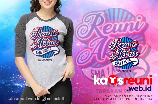 Desain Sablon Kaos Reuni Akbar SMA 1 Kota Tarakan Alumni 1998 - Kaos Reuni
