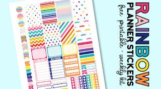 rainbow planner printables