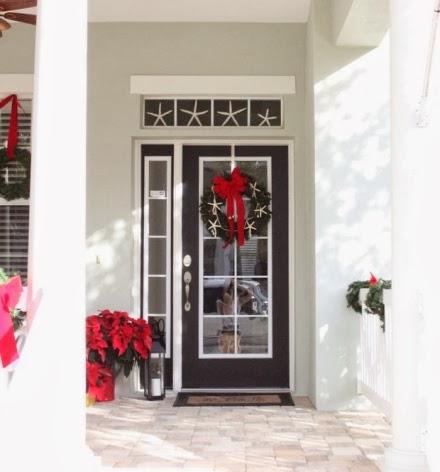 Christmas front door coastal