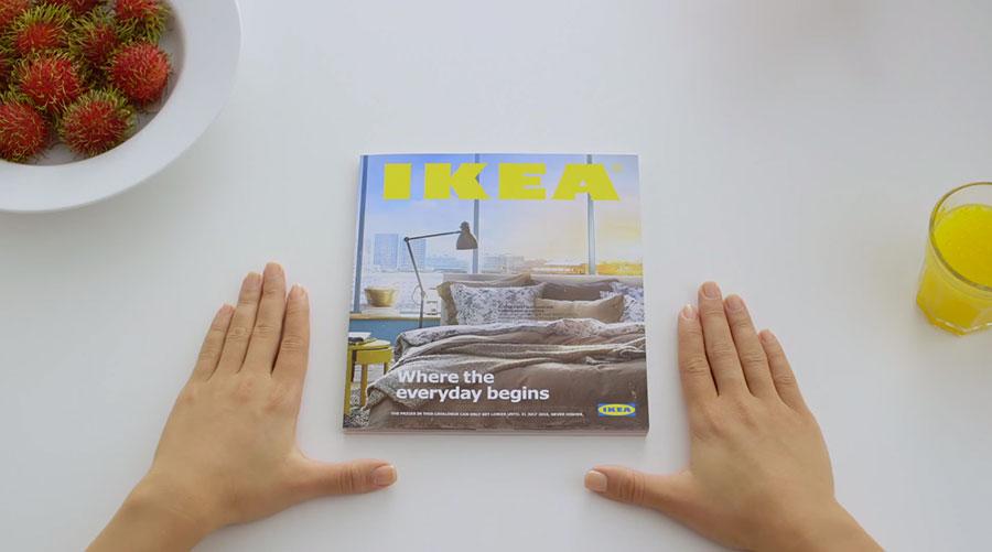 mãos, catálogo, ao melhor estilo, apple, ikea
