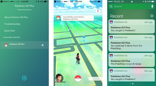 Pokemon Go Plus release