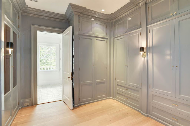 Closet builtins Washington DC luxury mansion Kalorama regency style limestone