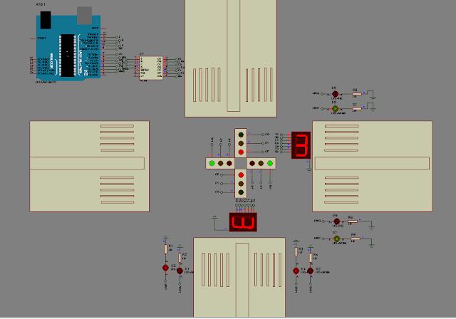 تصميم رسمة برنامج بروتوس لاشارة مرور لماكيت المشروع