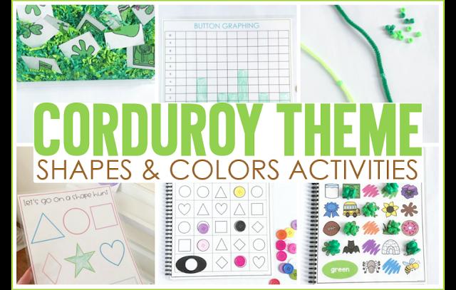 Corduroy Shape & Color Activities