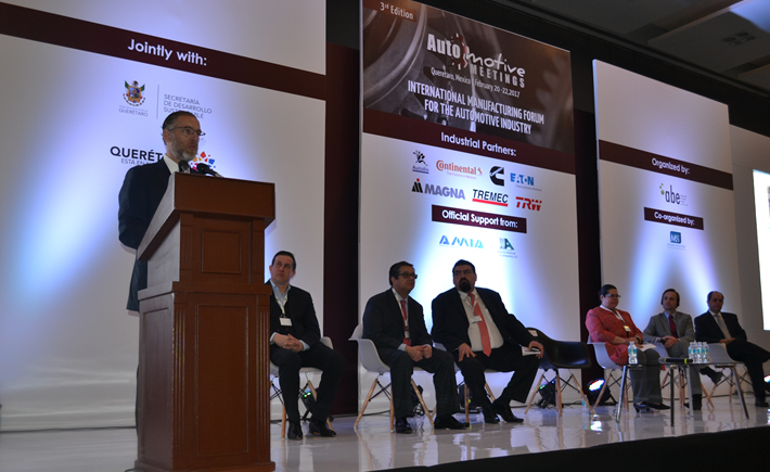El secretario de Desarrollo Sustentable de Querétaro, Marco Antonio Del Prete Tercero, afirmó que la industria automotriz es generadora de 50,000 empleos en 300 empresas de diferentes niveles de integración. (Foto: Vanguardia Industrial)