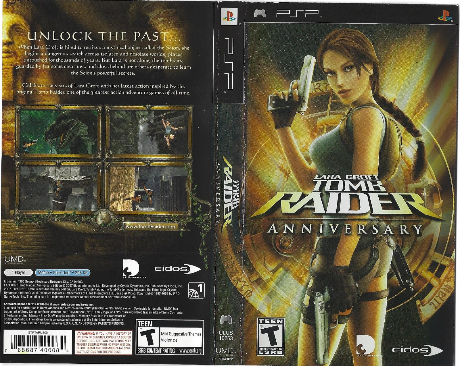 Psp Hardcore No Nonsense Review Lara Croft Tomb Raider Anniversary Psp