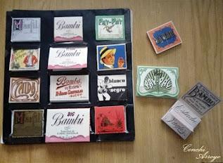 Coleccion de papeles de fumar fabricados en Alcoy
