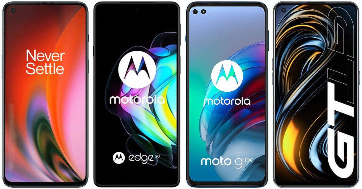 OnePlus Nord 2 vs Motorola Edge 20 vs Motorola Moto G100 vs Realme GT