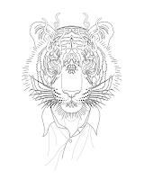 эскиз тигр тату