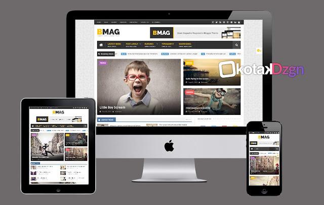 BMAG Magazine Responsive Blogger Template